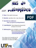 Cartaz Oficina Matematica Estágio 2017 1