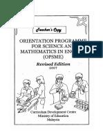 OPSME Teacher's Copy
