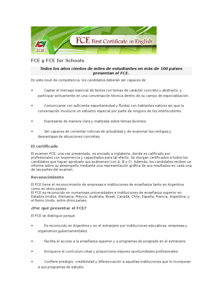 FCE y FCE for Schools 1 | Language Mechanics | Linguistics