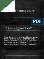 Saúde e Higiene Vocal
