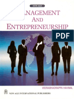 Mgt and Entrepreneurship