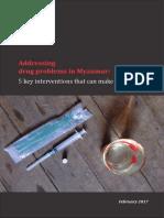 Addressing drug problems in Myanmar