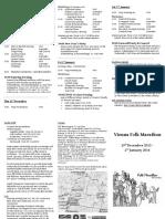 Vienna Folkmarathon 2015-16 Schedule and Info