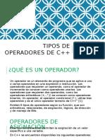 Tipos de Operadores de c