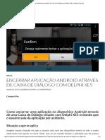 Encerrar Aplicação Android Através de Caixa de Diálogo Com Delphi XE5 _ Landerson Gomes