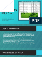 TIPOS DE OPERADORES PARA C++