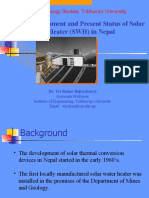 Development and Present Status of Solar Water Heater