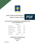 Short Course on Photocatalyst Chemistry