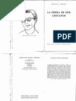 Brecht Ópera de Dos Centavos
