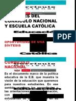 Curriculo Nacional y Educación Católica