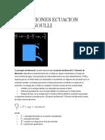 Aplicaciones Ecuacion de Bernoulli