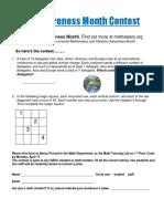 Math Awareness Contest 2017