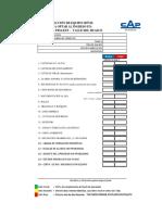 Formulario de Inspección y Aprobación de EQUIPO MÓVIL - PLANTA de PELLETS