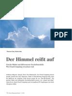 Der Himmel reißt auf - Wie Cloud Computing erwachsen wird (Detecon Management Report)