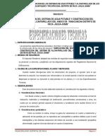 ESPECIFICACIONES TÉCNICAS PARA SANEAMIENTO