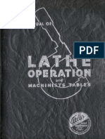Manual of Lathe Operations and Machinists Tables, Atlas Press Co.