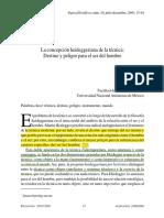 2. La Concepción Heideggeriana de La Técnica