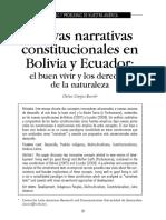 Ecuador y Bolivia Constitución