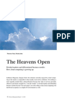 The Heavens Open - A Perspective on the Evolution of Cloud Computing Business Models (Detecon Management Report)