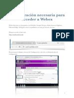 Configuración de Webex