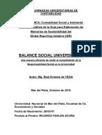 JUC MDP 2016 de VEGA Balance Social Universitario