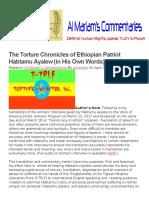 Torture Chronicles of Ethiopia