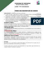 Taller Ejemplo de Descripción y Análisis de Cargos