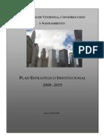 Plan Estrategico Institucional 2008 - 2015 Lima