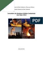 Inventário Resíduos Sólidos Industriais 2015 Ano Base 2014