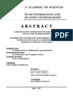 Todor Balabanov ANN DE IICT EN Abstract 05 Apr 2017