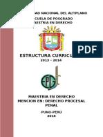 Estructura Derecho Procesal Penal