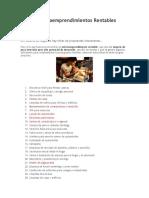 48 Microemprendimientos Rentables