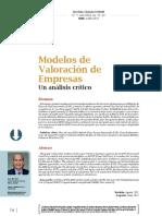 Modelos de Valoración de Empresas Un análisis crítico