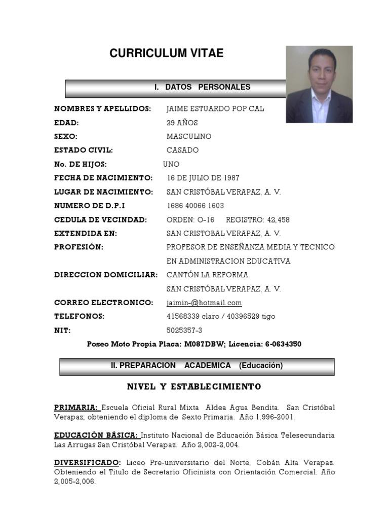 Asombroso Buenos Ejemplos De Currículum Universitario Regalo ...