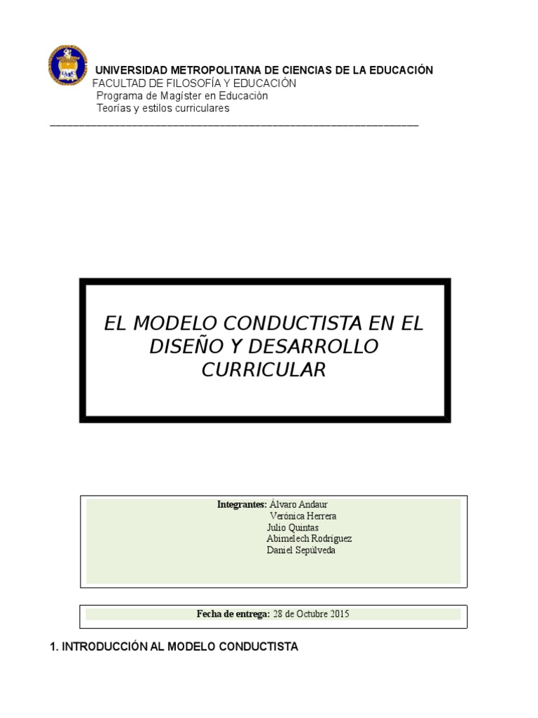 Documento Modelo Conductista