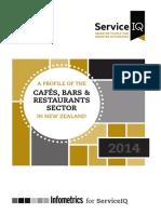 Service IQ - NZ Cafes-Bars-Restaurants Sector 2014
