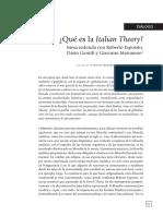 Esposito Italian Theory