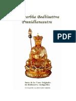 Sutra de Los Votos Originales Del Bodhisattva Ksitigarbha