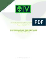 AlienVault USM 4.8 5.x System Backup Restore