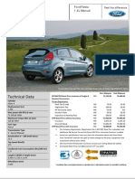 Ford Fiesta 1.4L Manual Estimated Price