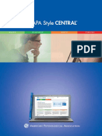 Apa Style Central Brochure