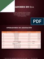 Operadores en c