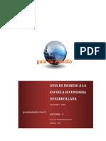 Guia de Ingreso a La Secundaria Historia 2 - 2015