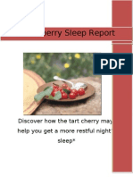 Tart Cherry Sleep Report