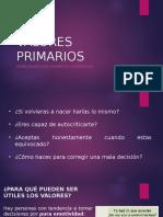 VALORES PRIMARIOS-etica