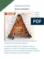 Letteratura Italiana Divina Commedia 1