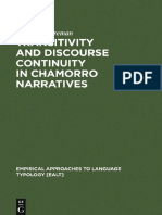 Ann M. Cooreman -- Transitivity and Discourse in Chamorro Narratives