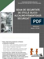 Prezentare-materiale-constructii-Geam de Securitate de Sticlă Silico-Alcalino-pământoasă Securizat Termic