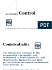 Zonal Systems Control of Remote Activities