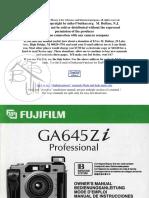 Manual fujifilm Ga645zi